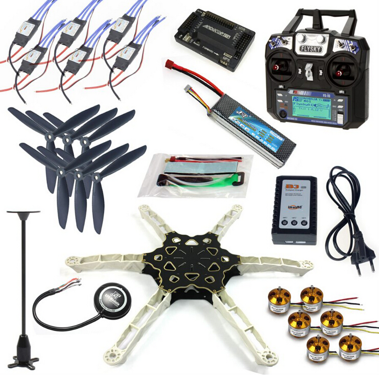 FPV Multi rotor Drone Full GPS APM2 8 Set Alien Across Carbon Fiber RC Quadrocopter FS