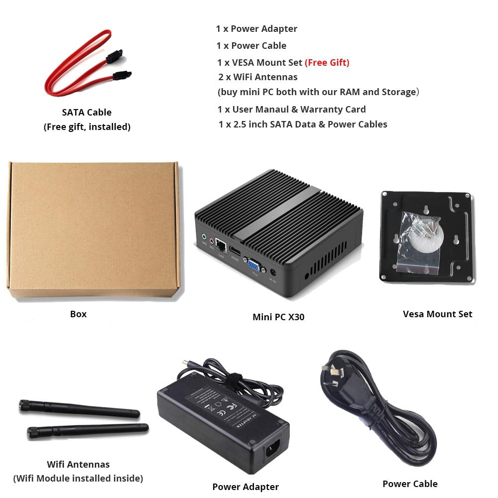 4k Mini Pc Intel Celeron 3965u Hd Graphics 610 Windows 10 Hdmi Vga Wifi Fanless Micro Desktop Pc Tv Box #6