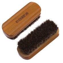 Щетка для обуви из конского волоса, полированная натуральная кожа, натуральная Конская шерсть, мягкий инструмент для полировки, щетка для чистки обуви из замши и нубука