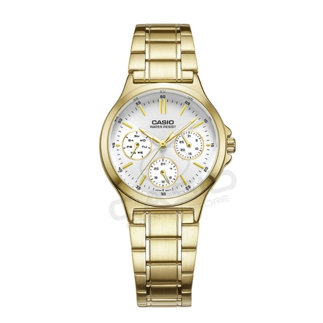 Casio gold watch waterproof quartz watch ladies watch fashion casual watch LTP-V300G  Luxury Brand Free Shipping relogio clock