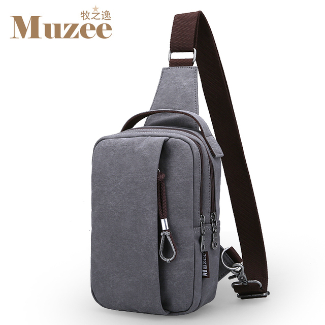 Muzee 2017 Summer High Capacity Chest Bag For Men&Female Canvas Sling Bag Casual Crossbody Bag For Short Trip