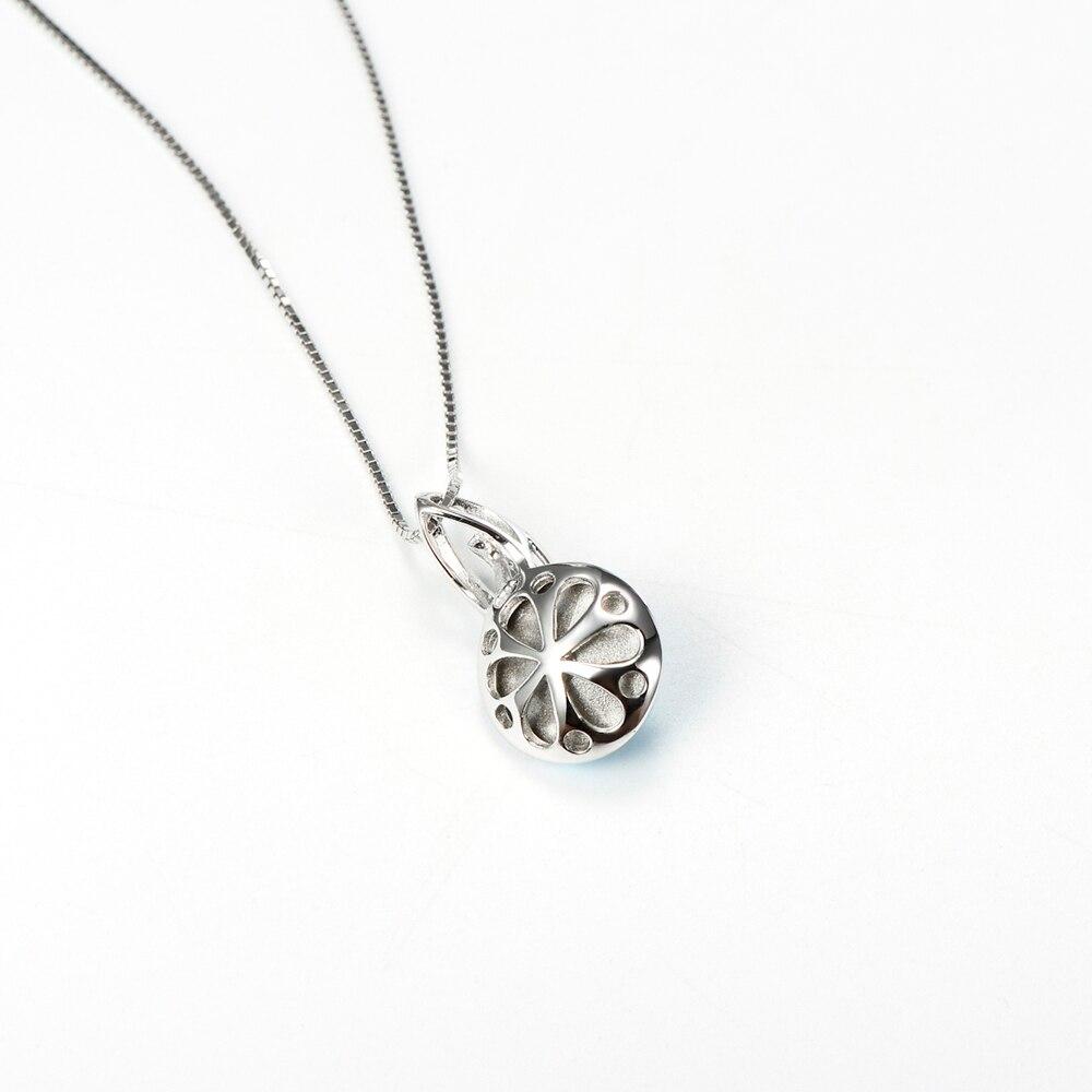 925 sterling silber schmuck sky blue kristall rund minimalistischen - Edlen Schmuck - Foto 5