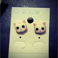 24pairs/lot Cat Pussy Little Stud Earring Hot sale Jeweley