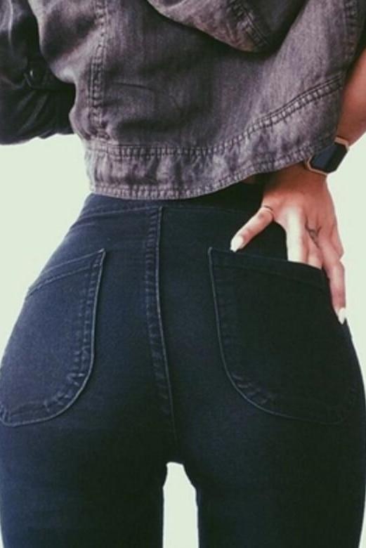 High Waisted Jeans Skinny Fashionnova Woman Pencil Pants Raise The Hip Cotton High Elasticity Jeans Woman Jeans Women Bottom ! Plus Size Women's Clothing & Accessories