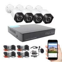 4ch DVR Kit CCTV Camera System Outdoor AHD Camera 1080P 720P IR Led Night Vision Remote Watch Video Surveillance