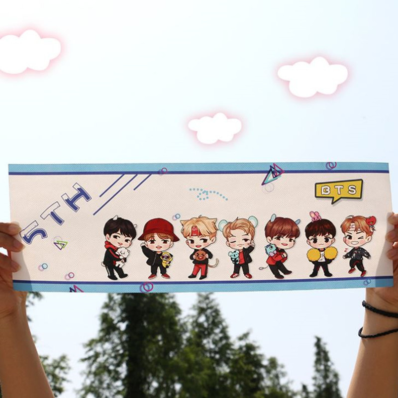 KPOP BTS BANGTAN BOYS ARMY Hand Banner Non Woven Fans Support JIMIN SUGA JIN Gift Collection In Action Toy Figures From Toys Hobbies On