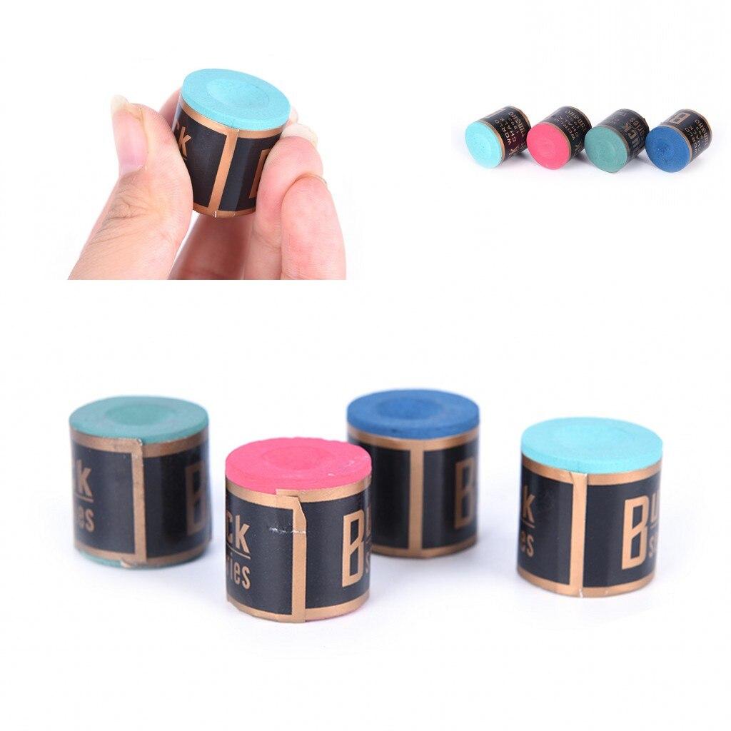 2019 New 1PCS Billiard Chalks Pool Cue Stick Chalk Snooker Billiard Accessories Wholesale 4 Colors