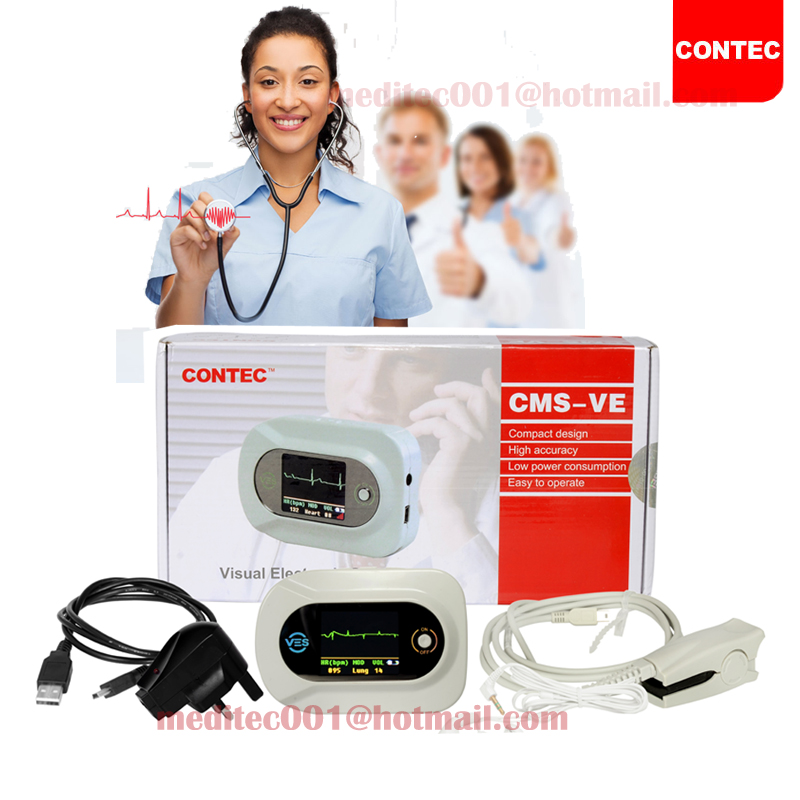 CONTEC CMS-VE Visual Digital Stethoscope  SPO2 PR Electronic Diagnostic Waveform,SPO2 PR,FREE Adult SPO2 CEPulse Oximeter 48hr