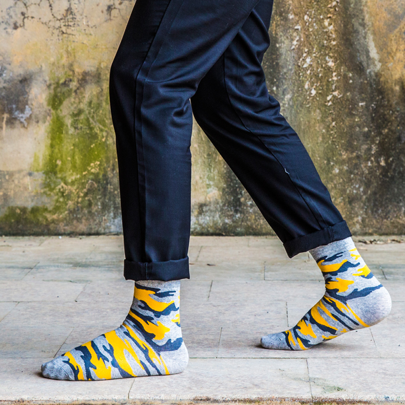 Clearance! Fashion Men In Tube Socks Man Socks Man Socks In Camouflage EUR39-44