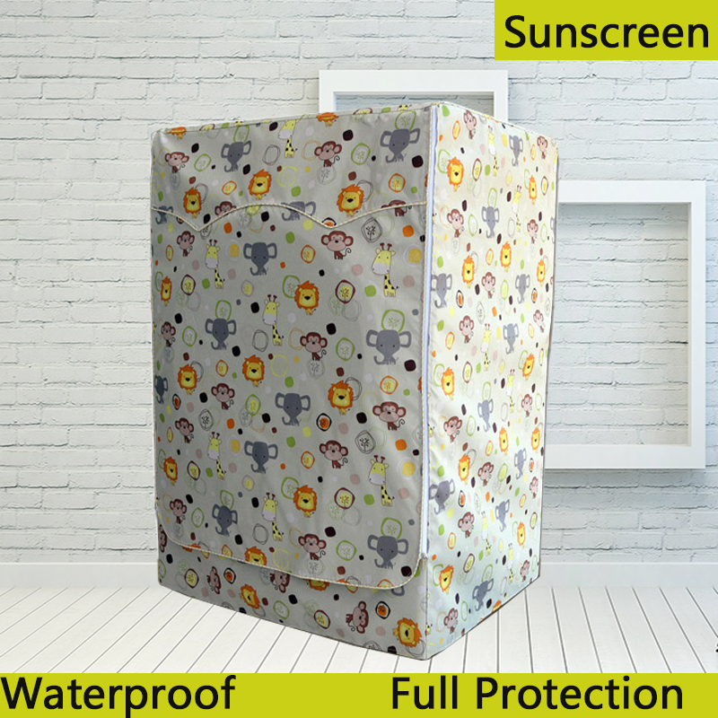 Waterproof Cover for Washing Machine Coated Silver Oxford Cloth Washing machine Cover Sunscreen cubierta lavadora
