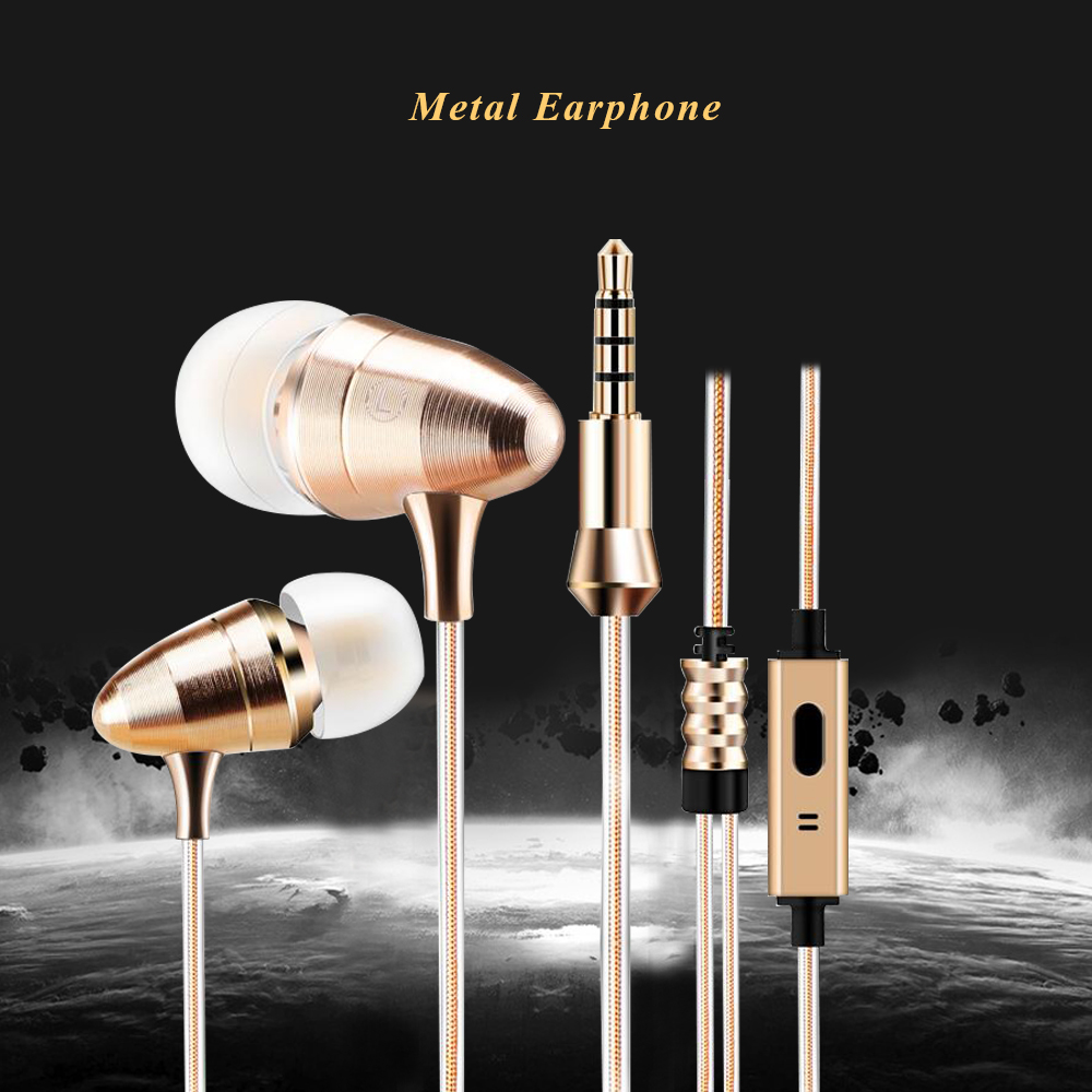 KST-X1 In-Ear Sport Earphone Golden Metal Heavy Bass sound DJ MP3 Quality Headset With Bullet Earbuds Single Crystal Copper Wire kst x2 in ear stereo earphone with metal earbuds