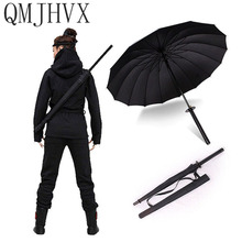 QMJHVX Популярный бренд продаж меч самурая Зонт с 10 спицами японский ниндзя прямо с длинными ручка высокая прочность ветрозащитный zont Катана женщина