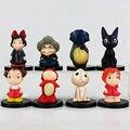 8 Unids/lote Película Mi Vecino Totoro Hayao Miyazaki Chihiro Ponyo Mononoke Princesa Servicio de Entregas de kiki Jiji PVC Figuras