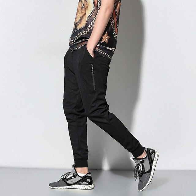 2017 весны мужская повседневная брюки высокое качество сплошной цвет мужские штаны мужские уличной хип hop slim fit брюки