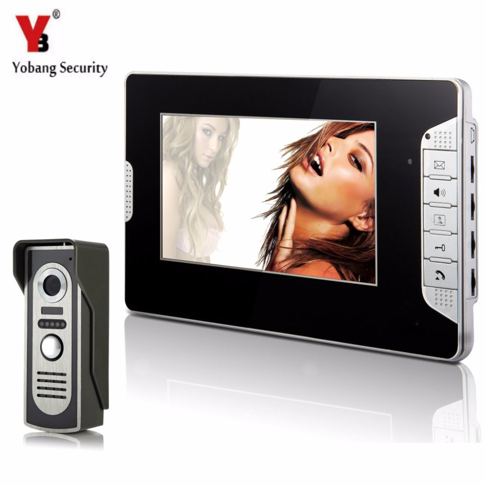 YobangSecurity Home Security 7Inch Monitor Video Doorbell Door Phone Intercom Camera Monitor System Night Vision For Apartment
