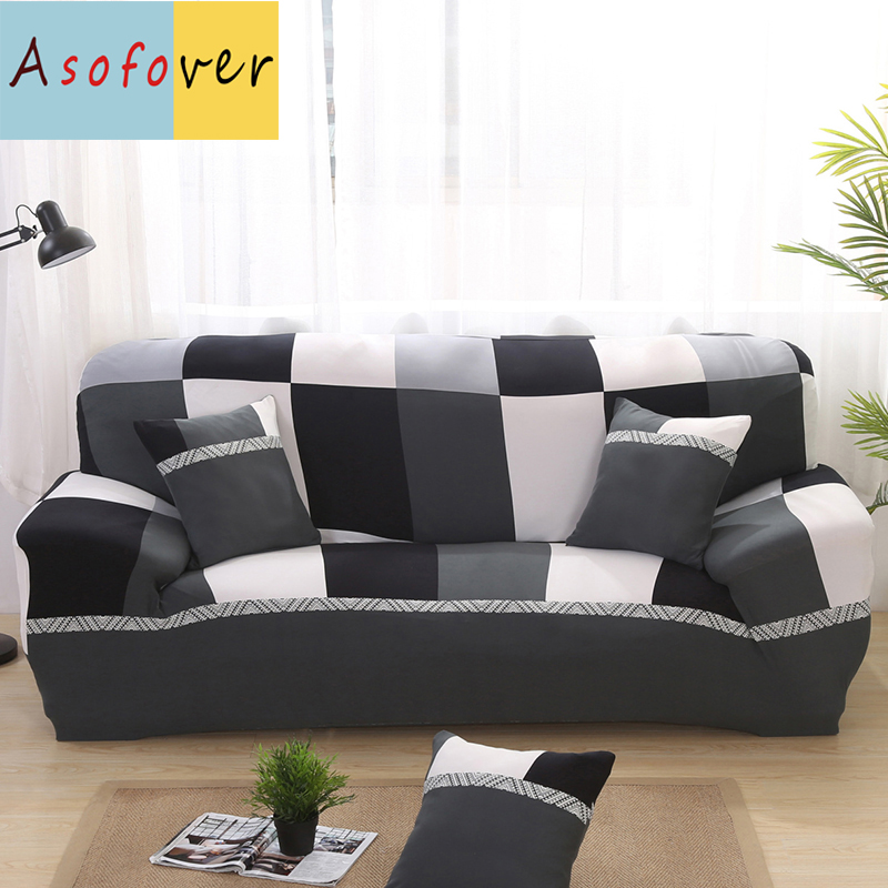 US $16.65 50% OFF|Black And White Sofa Cover Elastic Sofa Slipcover Cubre  Sofa Stretch Furniture Covers Protector Sofa Covers For Living Room-in Sofa  ...