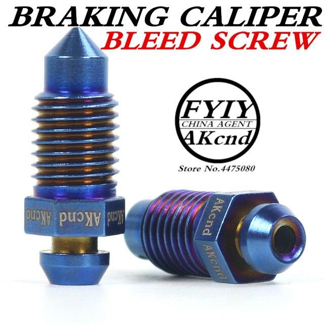 AKcnd M10 x 1.25 มิลลิเมตรรถจักรยานยนต์จักรยานเบรค Braking Caliper จุกนมมีเลือดออก