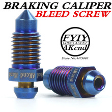 AKcnd M10 x 1.25mm Motorcycle Bike Brake Braking Caliper Bleed Screw Nipple