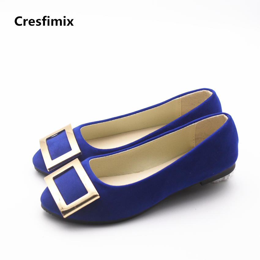 Cresfimix sapatos femininas women casual blue office flat shoes lady cute spring & summer slip on flats soft comfortable shoes cresfimix women casual breathable soft shoes female cute spring