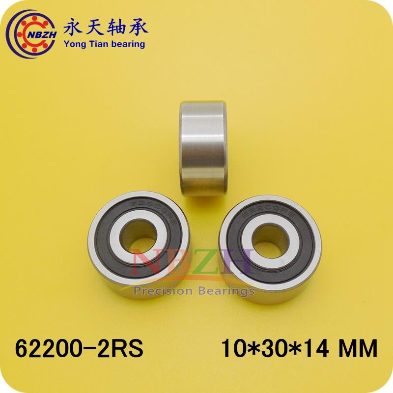 Excavator bearing 62200-2RS 10X30X14 10*30*14mm Double Shielded Deep Ball Bearings Large breadth 14 30 x 45см