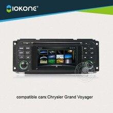 IOKONE Coche de Vídeo reproductor de CD Dvd Para Chrysler Grand Voyager Con EL mapa de la tarjeta SD de Radio, Bluetooth, GPS, iPod, Control Del Volante