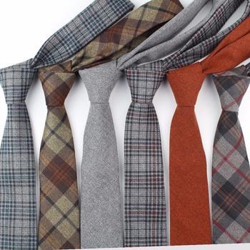 Moda męska kolorowy krawat bawełna formalne krawaty krawat wąski Slim Skinny Cravate wąskie grube krawaty tanie i dobre opinie Tandsen WOMEN Dla dorosłych Poliester COTTON Szyi krawat Jeden rozmiar Tend Tie Plaid green black navy blue grey
