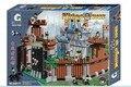 Kits de edificio modelo compatible con lego Castillo Castillo del Rey 3D modelo de construcción bloques Educativos juguetes y pasatiempos para niños