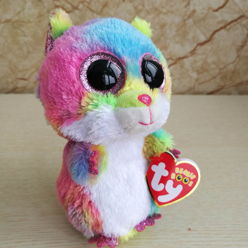 d56e0f9679c 2018 Ty Beanie Boos Plush Toy 15cm 6inch Rodney Multicolor Hamster Stuffed  Animal Doll Kids Toy Birthday Gift -in Stuffed   Plush Animals from Toys ...