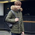 Winter Jacket Men Thick Warm Casual Fur Collar Down Coat Windproof Hooded Outwear Mens Winter Jacket Outwear Parka Men