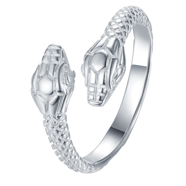 adjustable cool snake Wholesale 925 jewelry silver plated ring ,fashion jewelry