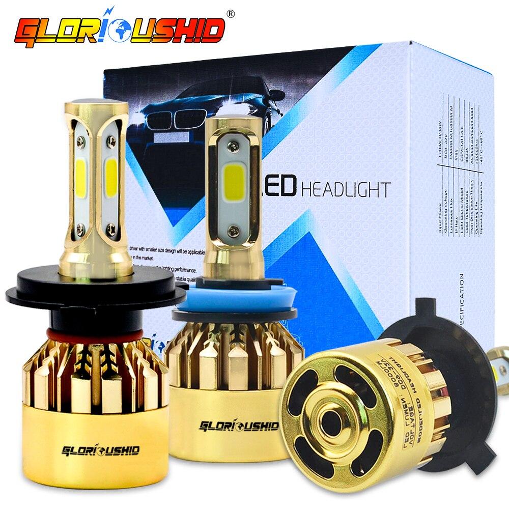 H7 Led-lampe H1 H4 H3 H11 Auto Scheinwerfer Lampen S500 Goldene Chrome Luxus Version H9 HB3 HB4 881 Nebel glühbirne 6500 k 72 W 8000LM