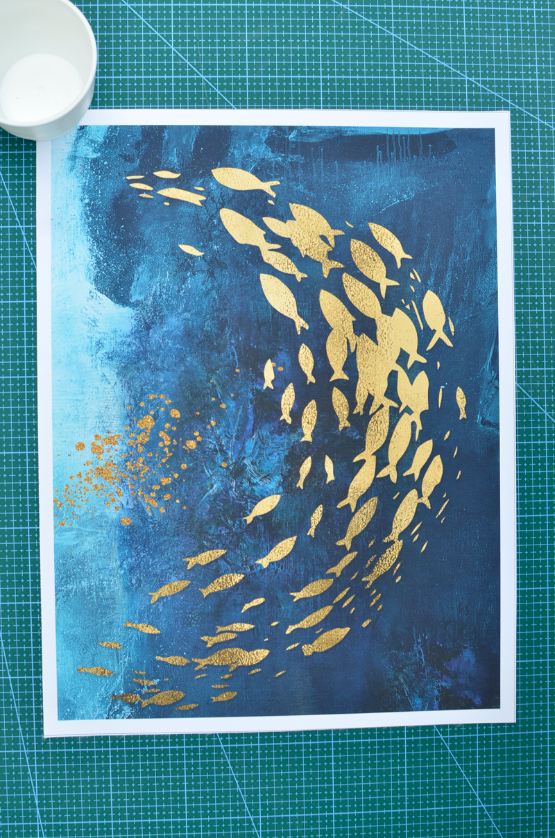 Golden Fish,Butterfly Wall Art,Living Room Home Decoration,Wall Art,wall decor,