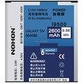 Original calidad nohon 2600 mah 3.8 v batería baterías para samsung galaxy s4 i9500 i9502 i9505 i9508 con paquete al por menor