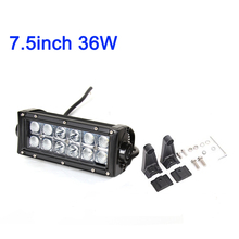 ECAHAYAKU 7.5 13.5 36W 72W 2-Row LED driving Light Bar Offroad Combo Led Work 12v 24v Truck SUV ATV 4WD 4x4