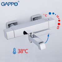 GAPPO Shower Faucets thermostatic shower faucet bath mixer with thermostat wall mounted waterfall tub faucet tapware griferia