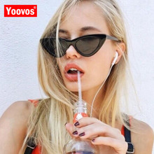 Yoovos 2019 Small Cat Eye Sunglasses Wom