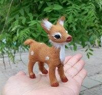 Small Cute Simulaiton Deer Toy Polyethylene Furs Deer Model Gift About 8cmx4cmx9cm