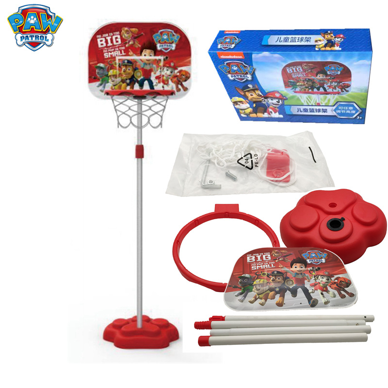 Paw patrol childrens indoor basketball frame can be raised and lowered assembly shooting frame home baby ball boy ball toysPaw patrol childrens indoor basketball frame can be raised and lowered assembly shooting frame home baby ball boy ball toys