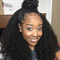 Afro Kinky Curly 360 Lace Frontal Closure Brazilian Virgin Hair 7A Lace Band Frontal With Natural Hairline Baby Hair 360 Frontal
