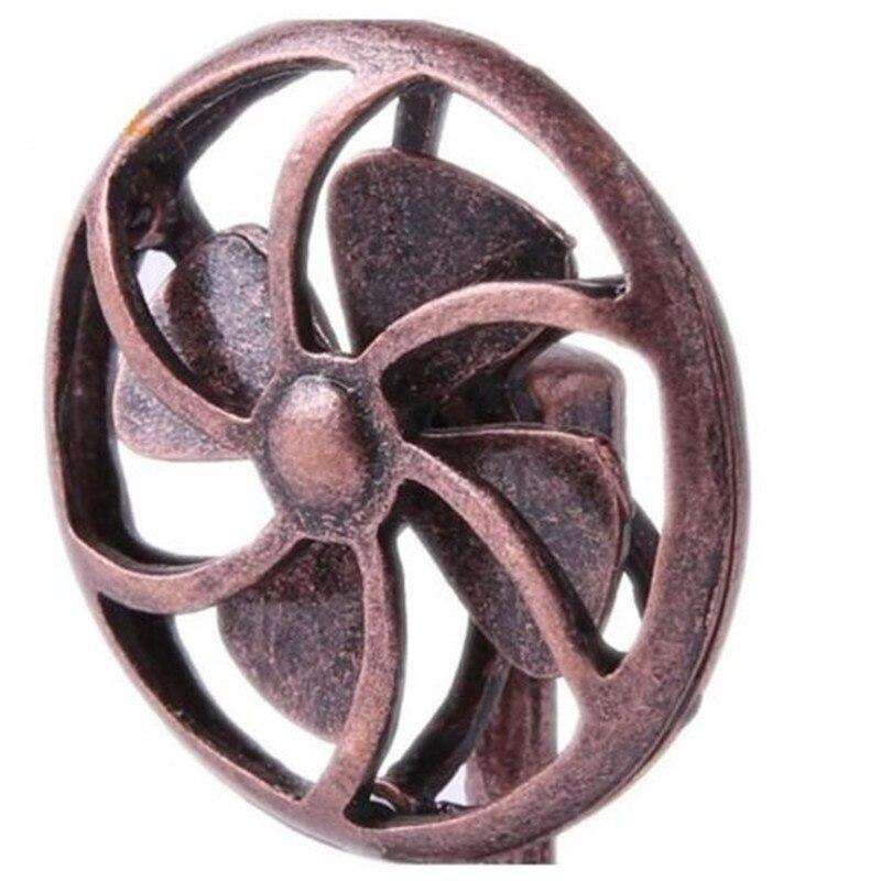 Dollhouse Miniature 1:12 Scale Retro Copper Electric Fan Fairy Home Furniture