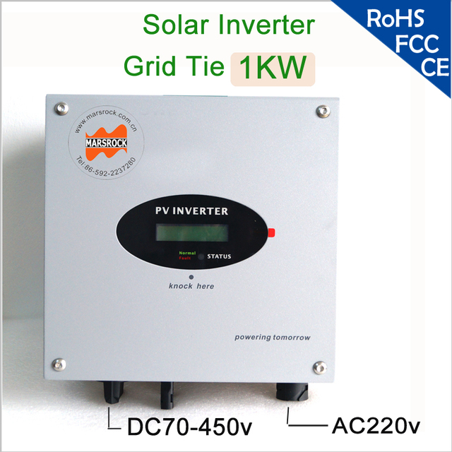 1000W grid tie single phase DC to AC solar string inverter with wide input voltage, IP65, LCD display for European, Asian market