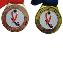 цена на Die Casting Zinc Alloy Custom Gold/Silver/Bronze State Championship Medal for Hockey k200175