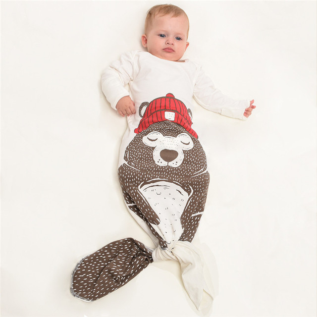 Baby boy girl Sleeping Bag cute cartoon bear fashion cotton toddler  Sleep Sack Warm Baby Blanket Warm Swaddle for 0-12 month