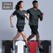 Fast-drying Sports T-shirt Mens Short-sleeved Outdoor Breathable Summer Loose Running Shirt