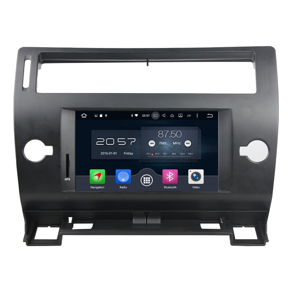 1024 600 4GB RAM 7 Octa Core Android 6 0 Car DVD Player for Citroen C4