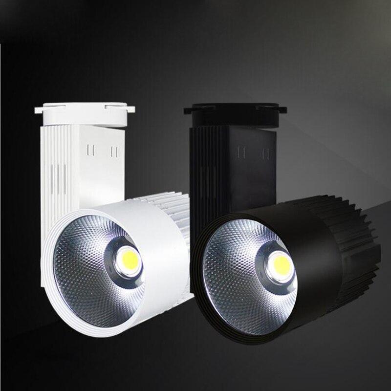 10pcs/lot Dimmable LED Track Lighting Lamps 20W 30W 40W COB Track Rail Lights Clothing Shop Shoe Shop 110V 220V Spotlight track light 20w led track light 20w track rail light - title=