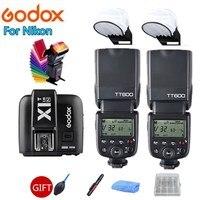 2x Godox TT600 TT600S 2.4G Wireless Camera Flash Speedlite + X1T N Transmitter for Nikon D3200 D3300 D5300 D70 D800 D3X D3 D2X
