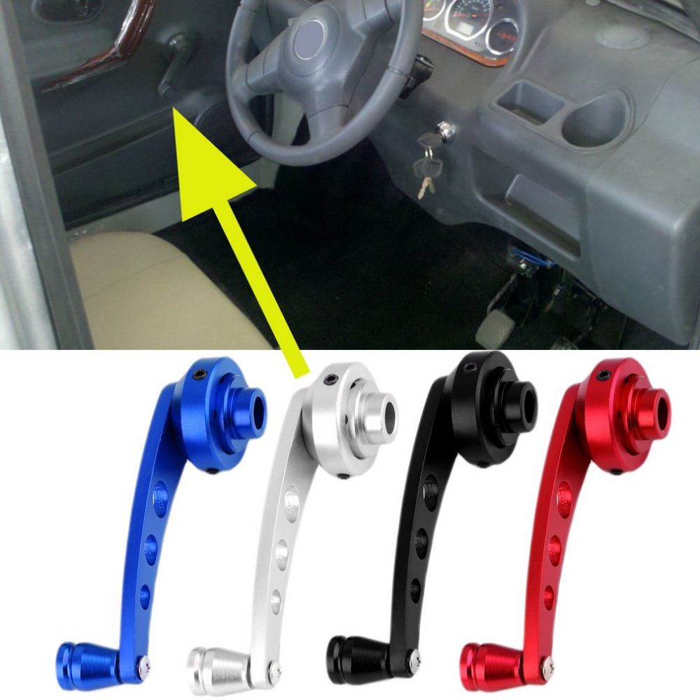 2 Pcs Universal Aluminum Back Replacement Vehicle Auto SUV Truck Car Window Crank Handles Winder Riser Kit
