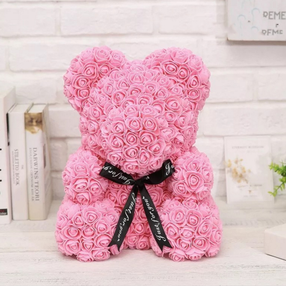 Mascot Rose Flower Soap Bear Plush Toy Scented Bath Soap Lovers Valentines Day Birthday Christmas Wedding Present Cleansers