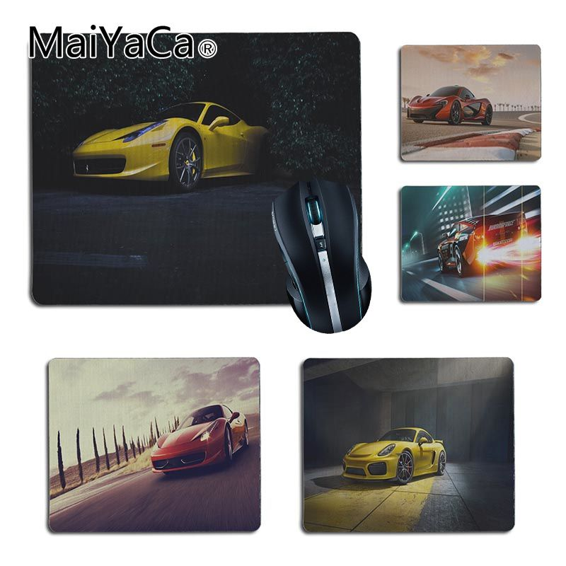 MaiYaCa Cool Yellow Sport Car Pattern Gamer Comfort Small Mouse Mat Gaming Mouse Pad Size For 25X29cm 18x22cm Gaming Mousepads